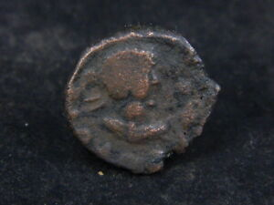 ANCIENT BRONZE COIN BACTRIAN 100 BC GL1877
