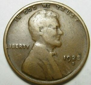 1925 S LINCOLN WHEAT PENNY    A