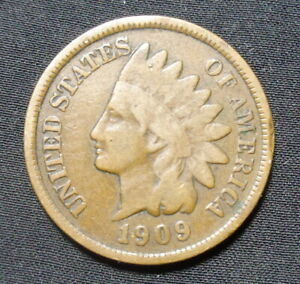 1909 INDIAN HEAD PENNY GOOD  BRONZE ONE CENT COIN B