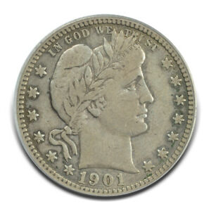 Click now to see the BUY IT NOW Price! 1901 S 25C BARBER QUARTER PCGS VF25 CAC