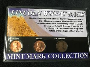 LINCOLN WHEAT BACK MINT MARK COLLECTION CENTS PENNIES