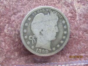 1899 BARBER QUARTER 187 NICE EXAMPLE TO FINISH YOUR DATE SET