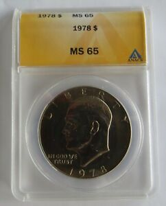 1978 UNCIRCULATED EISENHOWER DOLLAR   ANACS CERTIFIED MS 65