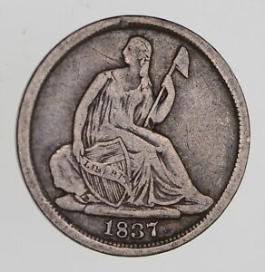 1837 SEATED LIBERTY HALF DIME   CIRCULATED  7695