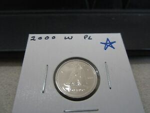 2000 W   CANADA   BRILLIANT UNCIRCULATED 10 CENT COIN   CANADIAN DIME