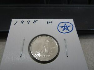 1998 W   CANADA   BRILLIANT UNCIRCULATED 10 CENT COIN   CANADIAN DIME