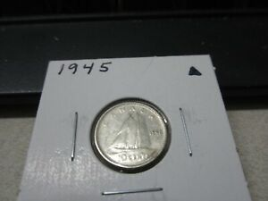 1945   CANADA   SILVER 10 CENT COIN   CANADIAN DIME