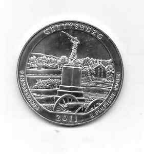 2011 GETTYSBURG NATIONAL PARK 5 OZ SILVER AMERICA THE BEAUTIFUL