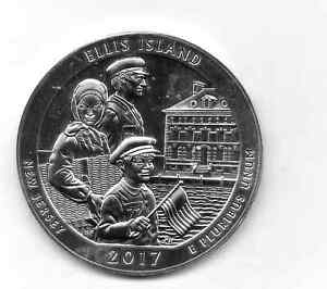2017 AMERICA THE BEAUTIFUL ELLIS ISLAND 5 OUNCE SILVER COIN