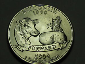 2004 D   WISCONSIN STATEHOOD QUARTER DOLLAR COIN