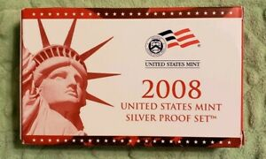 2008 UNITED STATES MINT SILVER PROOF SET 14 COINS COMPLETE WITH BOX & COA 531