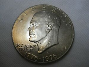 1976 D TYPE 2  UNCIRCULATED IKE DOLLAR .  COMBINE SHIPPING.