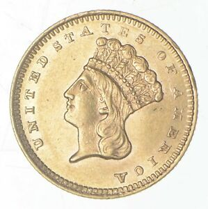 Click now to see the BUY IT NOW Price! 1860 S $1.00 INDIAN PRINCESS HEAD GOLD   TYPE 3  6593