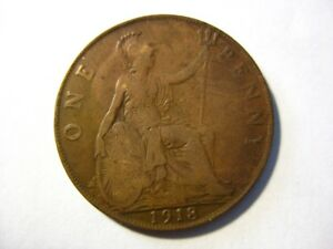 1918 GREAT BRITAIN PENNY CIRCULATED