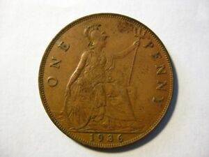 1936 GREAT BRITAIN PENNY CIRCULATED