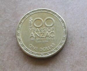AUSTRALIA   2016 100 YEARS OF ANZAC  $1.00 DOLLAR COIN .LOW MINTAGE