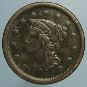 Click now to see the BUY IT NOW Price! 1851 BRAIDED HAIR LARGE CENT   FINE