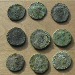Click now to see the BUY IT NOW Price! NINE AE ANTONINIANI OF GALLIENUS AND CLAUDIUS II GOTHICUS