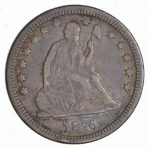 1876 CC SEATED LIBERTY QUARTER  4305