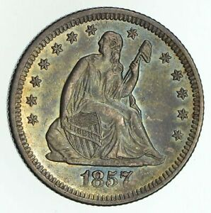 1857 O SEATED LIBERTY QUARTER   NOT CIRCULATED  4677