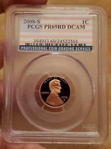 2008 S PCGS PR69RD DECAM LINCOLN 1 CENT
