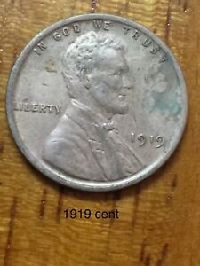 1919 PHILADELPHIA MINT COPPER LINCOLN WHEAT CENT