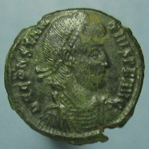 Click now to see the BUY IT NOW Price! PARTIALLY CLEANED CONSTANTIUS II FEL TEMP REPARATIO AE 3   NICE GREEN PATINA