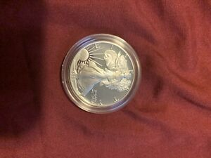 1989 S PROOF AMERICAN SILVER EAGLE WITH BOX & COA