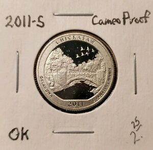 2011 S CAMEO CLAD PROOF AMERICA THE BEAUTIFUL CHICKASAW QUARTER
