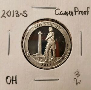 2013 S CAMEO CLAD PROOF AMERICA THE BEAUTIFUL PERRY'S VICTORY QUARTER FREE SHIP