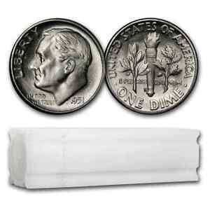 Click now to see the BUY IT NOW Price! 1951 S ROOSEVELT DIME 50 COIN ROLL BU   SKU206558