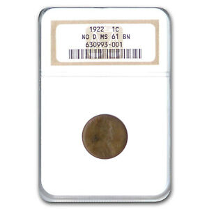 Click now to see the BUY IT NOW Price! 1922  NO D LINCOLN CENT MS 61 NGC  BROWN    SKU207085