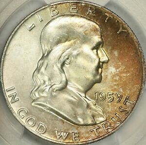Click now to see the BUY IT NOW Price! 1959 FRANKLIN HALF DOLLAR PCGS MS66 FBL CAC