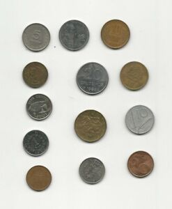 NEAT JOB LOT OF FOREIGN WORLD COINS 1952 TO 2002