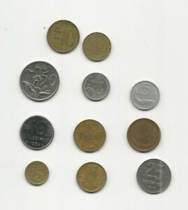 NEAT JOB LOT OF FOREIGN WORLD COINS 1954 TO 1996