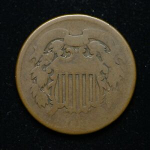TWO CENT PIECE DATELESS LOW GRADE NICE ORIGINAL COIN  BB3849