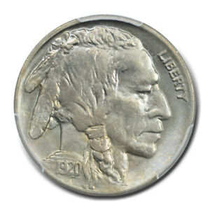 1920 5C BUFFALO NICKEL PCGS MS65