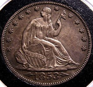 1853 O SEATED LIBERTY HALF DOLLAR ARROWS AND RAYS MS  KEY DATE