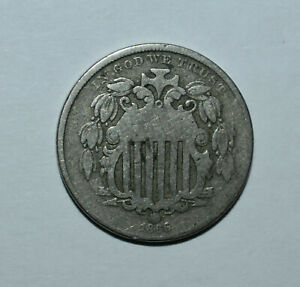 13. AN 1866 SHIELD NICKEL WITH RAYS IN AS SHOWN GOOD CONDITION