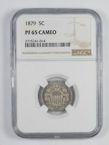 PF65 CAM 1879 SHIELD NICKEL   GRADED NGC  7778
