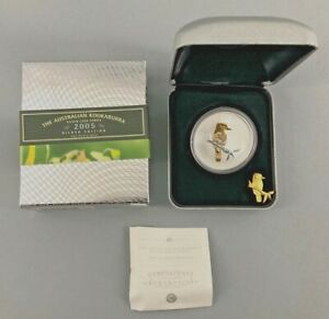 Click now to see the BUY IT NOW Price! 2005 PERTH MINT THE AUSTRALIAN KOOKABURRA 1 OZ. COIN GILDED EDITION WITH BOX