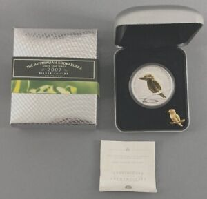 Click now to see the BUY IT NOW Price! 2007 PERTH MINT THE AUSTRALIAN KOOKABURRA 1 OZ. COIN GILDED EDITION WITH BOX