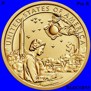 2019 D  NATIVE AMERICAN UNCIRCULATED DOLLAR POSITION B   INDIAN IN SPACE