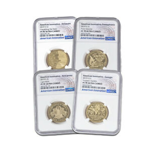 Click now to see the BUY IT NOW Price! 2019 INNOVATION DOLLAR 4PC PROOF SET   ALL NGC 70 ULTRA CAMEO