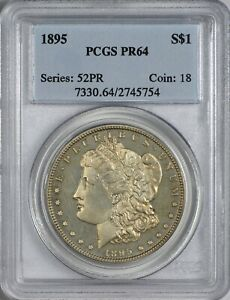 Click now to see the BUY IT NOW Price! 1895 MORGAN SILVER DOLLAR PCGS PR64   KING OF THE MORGAN DOLLARS