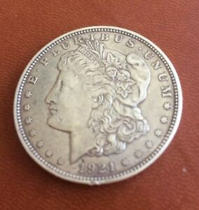 1921 S MORGAN SILVER DOLLAR   LAST YEAR ISSUE 90  $1.00 BULLION  256
