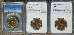 Click now to see the BUY IT NOW Price! W@W 1997 1998 1999 $25 AMERICAN GOLD EAGLE MS70 NGC PCGS W@W