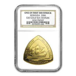 Click now to see the BUY IT NOW Price! 2006 BERMUDA 1 OZ PROOF GOLD $30 TRIANGLE GEM PROOF NGC   SKU 83532