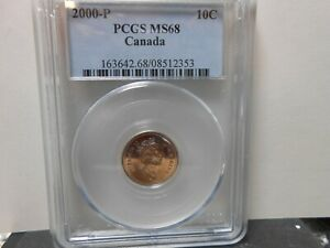 Click now to see the BUY IT NOW Price! 2000 P CANADIAN 10 CENT TEST COIN FOR TESTING ONLY LY  PCGS 68