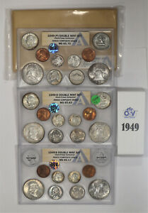 Click now to see the BUY IT NOW Price! 1949 P / D / S DOUBLE MINT SET OSV ANACS MINT STATE UNC CLARK FRESE COLLECTION